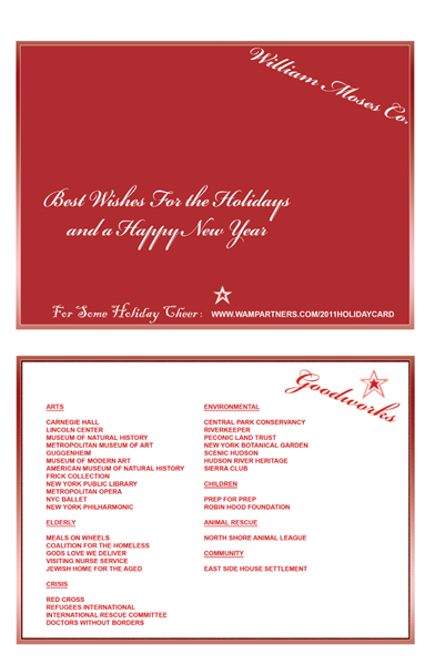 WAM Partner Holiday Card